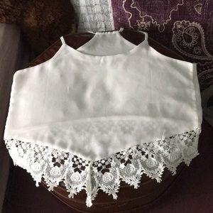 Tops - white dressy shirt